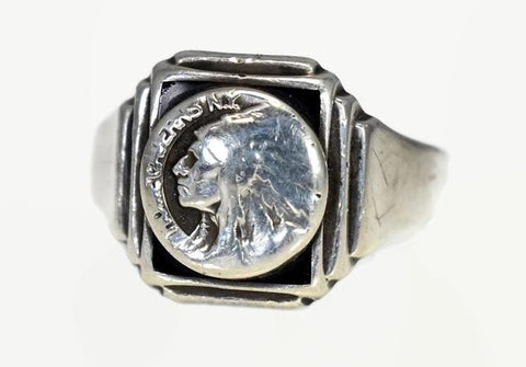 Vintage Howe Cavern NY Sterling Silver Men's Ring Schoharie Collectible - Premier Estate Gallery