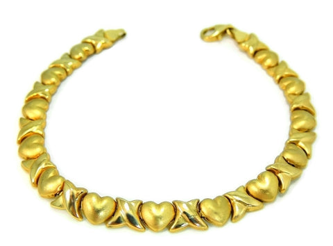 10k Gold Hugs and Kisses Bracelet Romantic Jewelry - Premier Estate Gallery  - 1