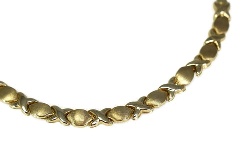 Romantic 10k Hugs and Kisses Gold Bracelet - Premier Estate Gallery 1