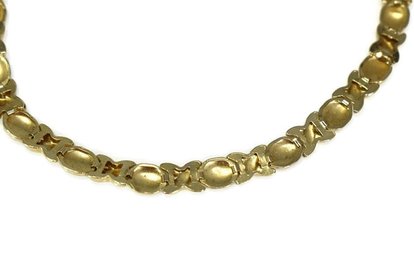 Romantic 10k Hugs and Kisses Gold Bracelet