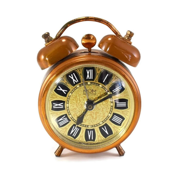 Vintage Hungarian Alarm Clock Double Bell - Premier Estate Gallery