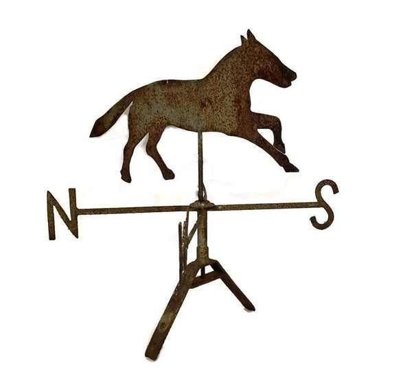 Antique Sheet Metal Horse Weathervane and Mount 19th Century Folk Art - Premier Estate Gallery