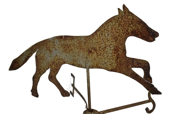 Antique Sheet Metal Horse Weathervane and Mount 19th Century Folk Art - Premier Estate Gallery 2