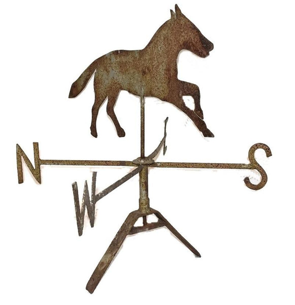 Antique Sheet Metal Horse Weathervane and Mount 19th Century Folk Art - Premier Estate Gallery 3