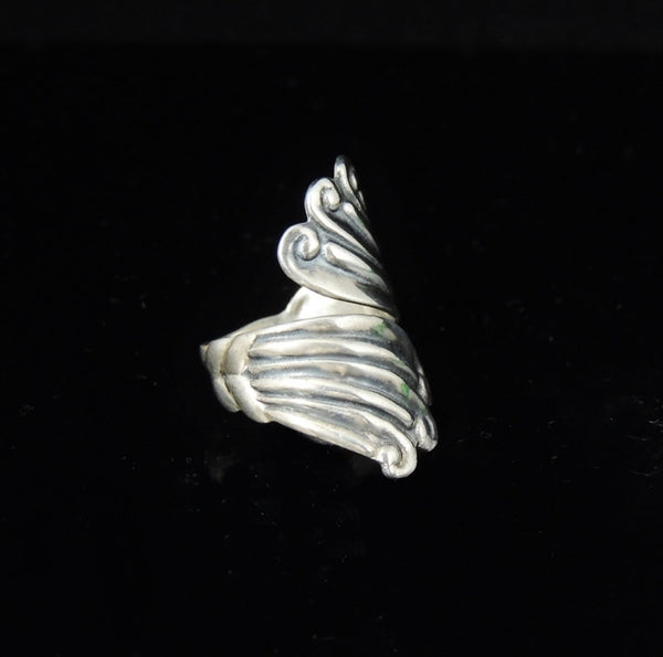 Vintage Silver Swirl Wrapped RING TAXCO Signed - Premier Estate Gallery  - 3