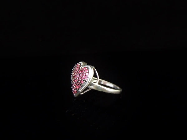 Ruby Heart Ring Sterling Silver - Premier Estate Gallery  - 2