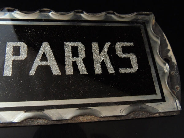 Art Deco JM PARKS Sign  Reversed Painted Bevelled Glass - Premier Estate Gallery  - 5