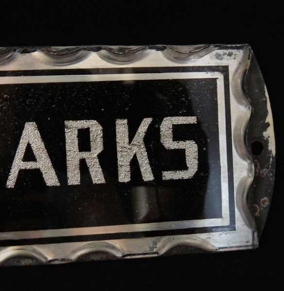 Art Deco JM PARKS Sign  Reversed Painted Bevelled Glass - Premier Estate Gallery  - 4