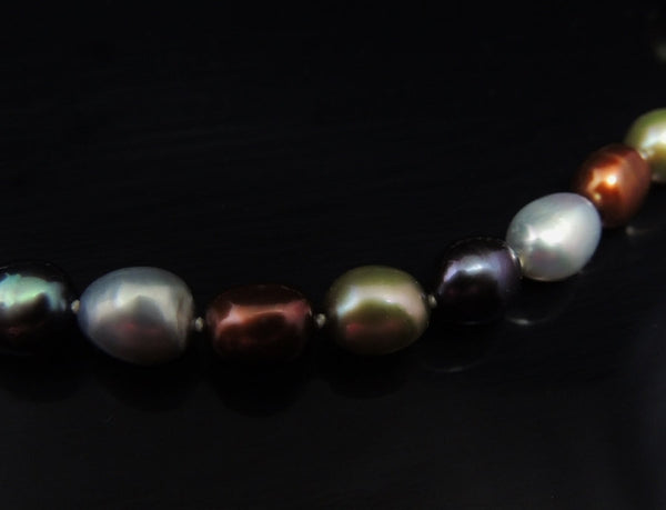 Cultured  Baroque Pearls 14k Gold Clasp Warm Metallic Tones - Premier Estate Gallery  - 4
