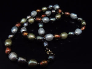 Cultured  Baroque Pearls 14k Gold Clasp Warm Metallic Tones - Premier Estate Gallery  - 1