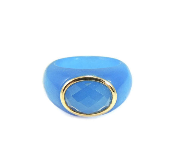 Blue Jade  14k Gold Ring - Premier Estate Gallery  - 2