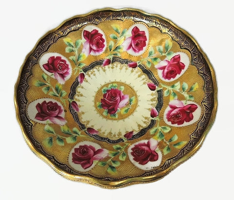 Cameo Rose Moriage Porcelain Bowl Wheelock - Premier Estate Gallery  - 1