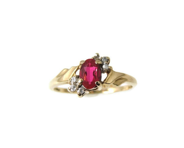 Ruby and Diamond Ring 10k Gold - Premier Estate Gallery  - 2