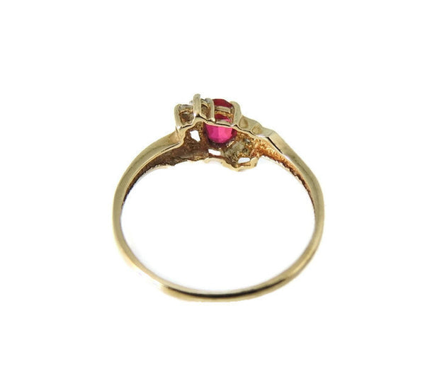 Ruby and Diamond Ring 10k Gold - Premier Estate Gallery  - 3