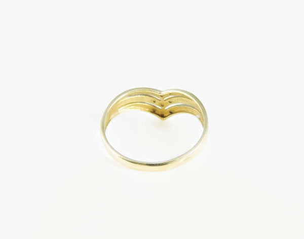 Diamond Chevron Ring Band 10k Gold - Premier Estate Gallery  - 3