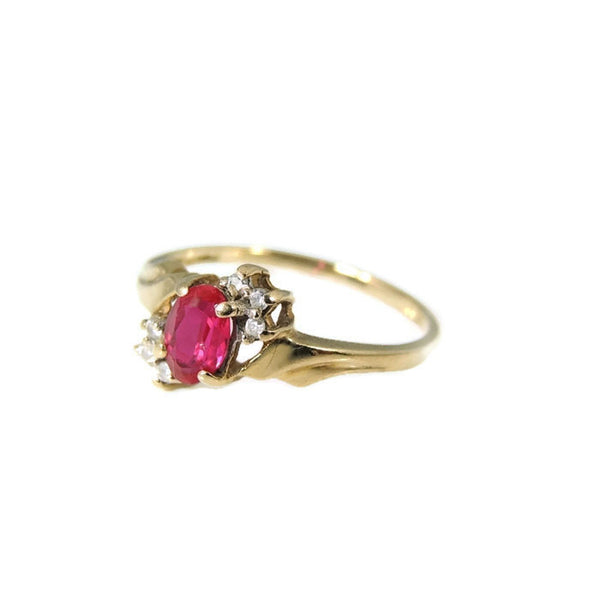 Ruby and Diamond Ring 10k Gold - Premier Estate Gallery  - 5
