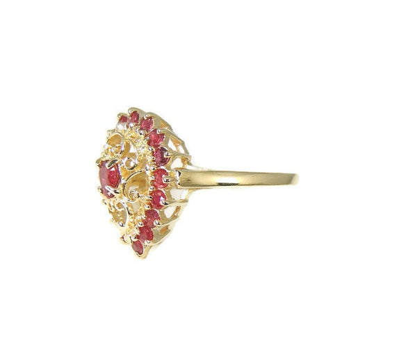 RUBY Filigree Ring  10k Gold  .94 ctw Estate - Premier Estate Gallery  - 3