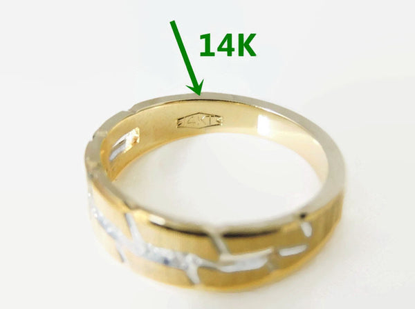 DIAMOND Wedding Band Ring  14k Gold - Premier Estate Gallery  - 4