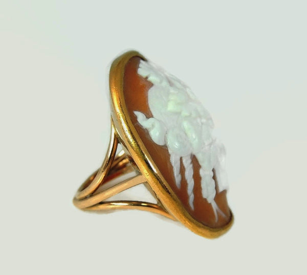 HUGE Antique Cameo Ring 14k Gold - Premier Estate Gallery  - 4