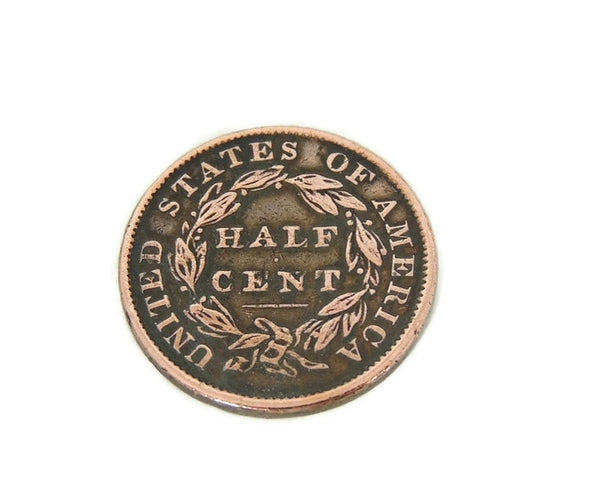 1833 Half Cent Capped Bust - Premier Estate Gallery  - 2