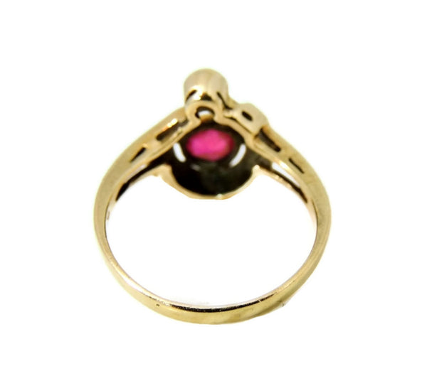 Ruby Etruscan Revival Ring 10k Gold Vintage - Premier Estate Gallery  - 3
