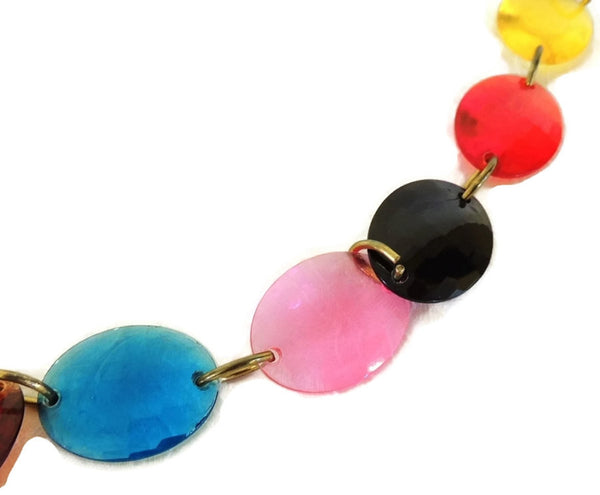 Rainbow LUCITE Gem Go Go Belt 1960s MOD Retro - Premier Estate Gallery  - 3
