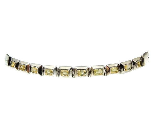 Citrine Silver Panel Link Bracelet Over 14 ctw Gemstones Silver - Premier Estate Gallery  - 4