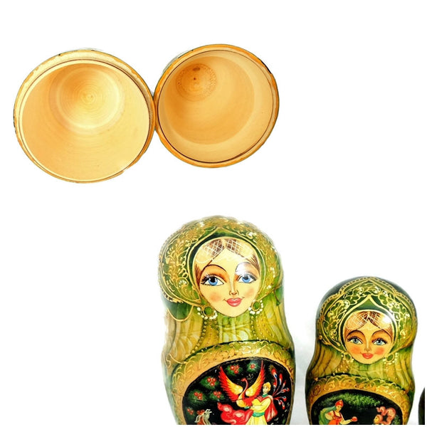 Matryoshka Russian Nesting Dolls FAIRY TALE AND Enamel Egg Pendant - Premier Estate Gallery  - 4