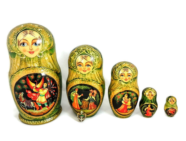 Matryoshka Russian Nesting Dolls FAIRY TALE AND Enamel Egg Pendant - Premier Estate Gallery  - 1