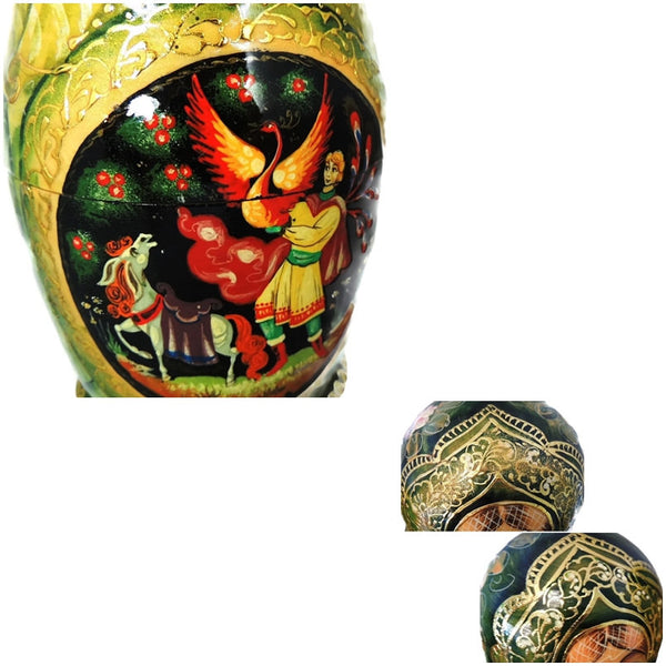 Matryoshka Russian Nesting Dolls FAIRY TALE AND Enamel Egg Pendant - Premier Estate Gallery  - 3