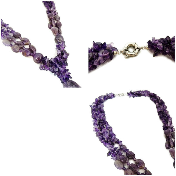 Impressive Amethyst Lariat Necklace 1025 carats 205g Gemstones - Premier Estate Gallery  - 4