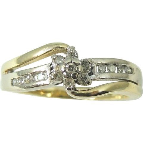 Diamond Promise Engagment Ring 10k Gold .75 ctw