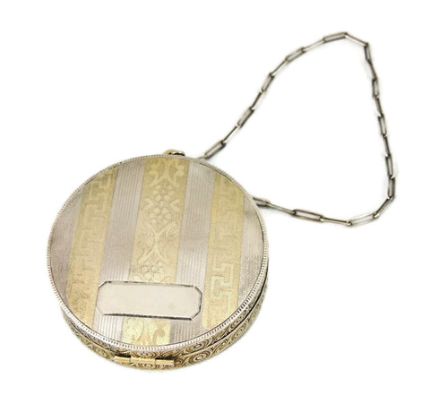 Art Deco Sterling Elgin Compact Silver Dance Purse - Premier Estate Gallery  - 1