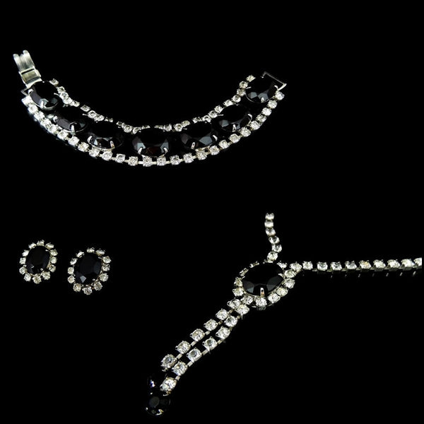 Mad Men Era Rhinestone Jewelry Set Vintage Perfection - Premier Estate Gallery  - 3