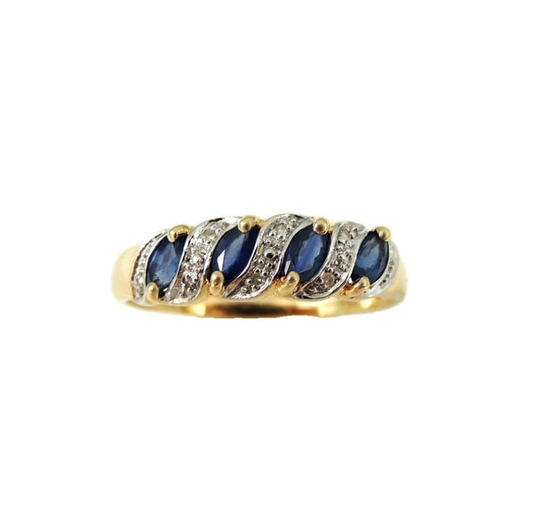 Sapphire Ring 10k Gold Diamond Accents - Premier Estate Gallery  - 2
