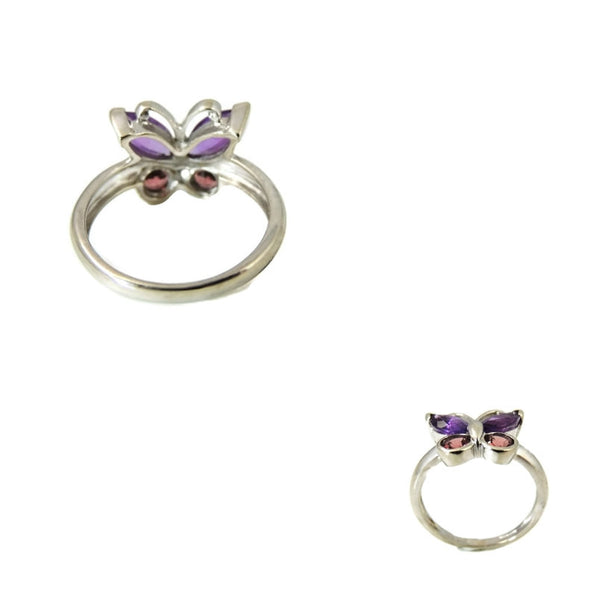 Gemstone Butterfly Ring 14k White Gold - Premier Estate Gallery  - 3