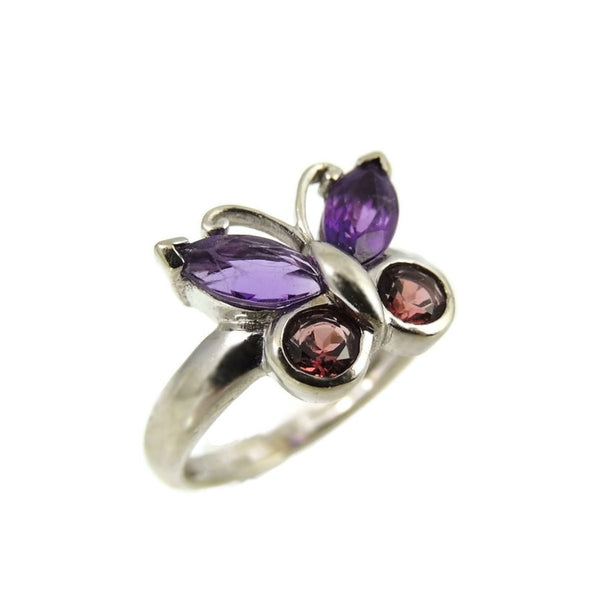 Gemstone Butterfly Ring 14k White Gold - Premier Estate Gallery  - 2