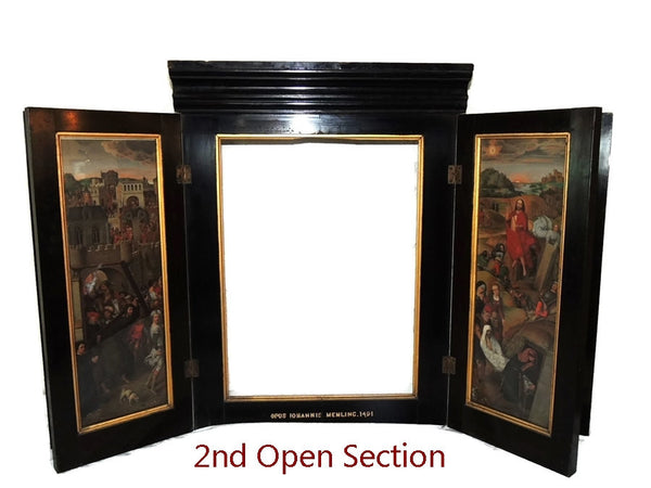 Antique Hans Memling Religious Altarpiece Triptych Lithographs - Premier Estate Gallery  - 4