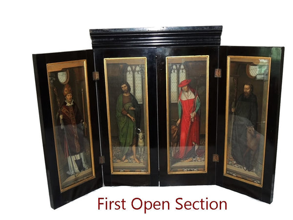 Antique Hans Memling Religious Altarpiece Triptych Lithographs - Premier Estate Gallery  - 1