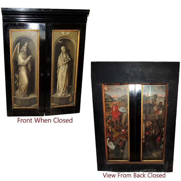 Antique Hans Memling Religious Altarpiece Triptych Lithographs - Premier Estate Gallery  - 2