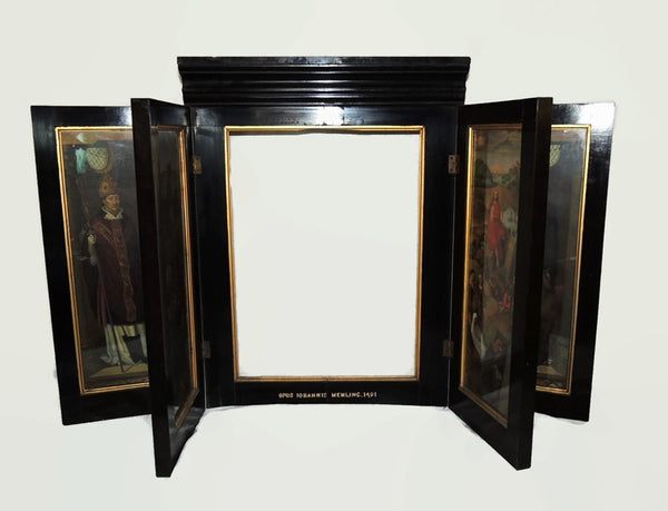 Antique Hans Memling Religious Altarpiece Triptych Lithographs - Premier Estate Gallery  - 3