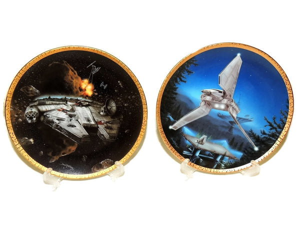 Star Wars Vehicle Collector's Plates Space Vehicles COA - Premier Estate Gallery  - 2