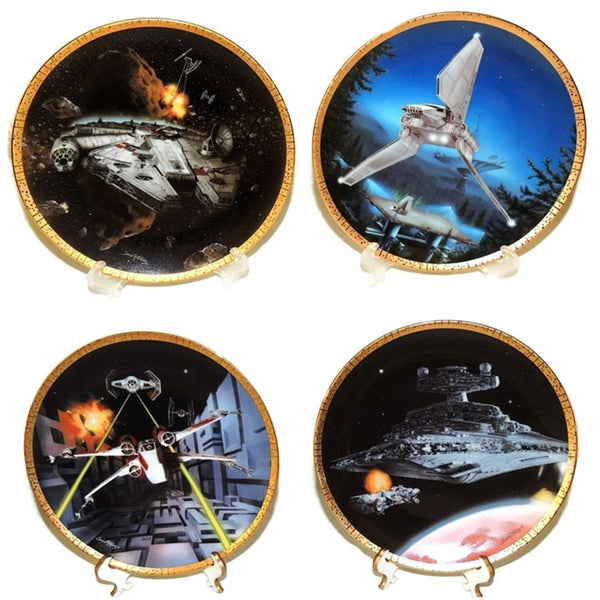 Star Wars Vehicle Collector's Plates Space Vehicles COA