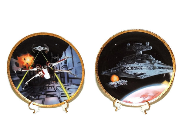 Star Wars Vehicle Collector's Plates Space Vehicles COA - Premier Estate Gallery  - 3