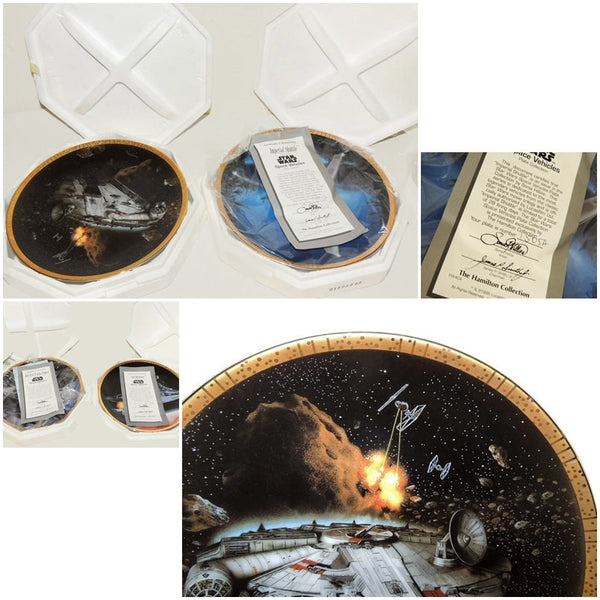 Star Wars Vehicle Collector's Plates Space Vehicles COA - Premier Estate Gallery  - 5