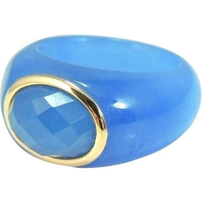 Blue Jade  14k Gold Ring - Premier Estate Gallery  - 1