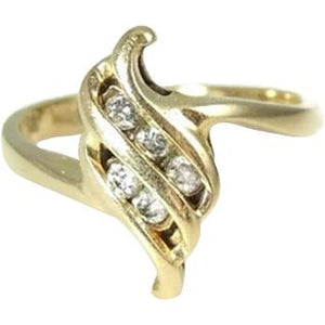 Diamond Accent Promise Ring 14k Gold - Premier Estate Gallery  - 1