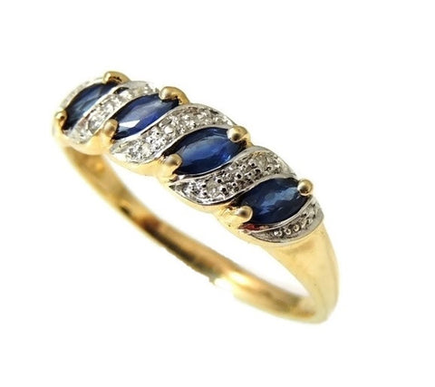 Sapphire Ring 10k Gold Diamond Accents - Premier Estate Gallery  - 1