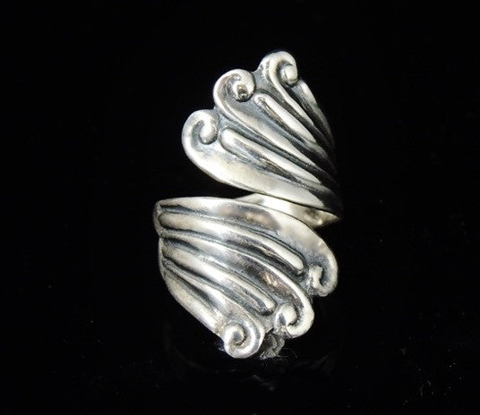 Vintage Silver Swirl Wrapped RING TAXCO Signed