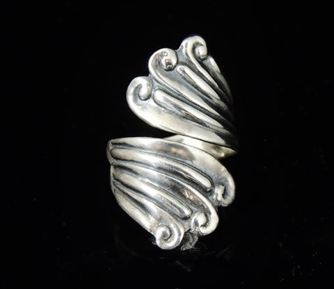 Vintage Silver Swirl Wrapped RING TAXCO Signed - Premier Estate Gallery  - 1
